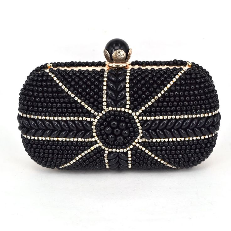 black woman bag new fashion evening bags two-sided Pearl party wedding bride purse Oblique across hand bags Free Shipping Z21