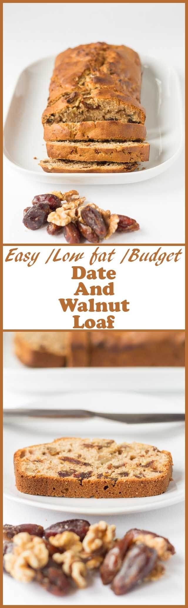 Date and walnut loaf is a really easy, low fat and delicious traditional Scottish teatime cake. It's a perfect bake for holidays and quick to whip up when you've got guests coming round!