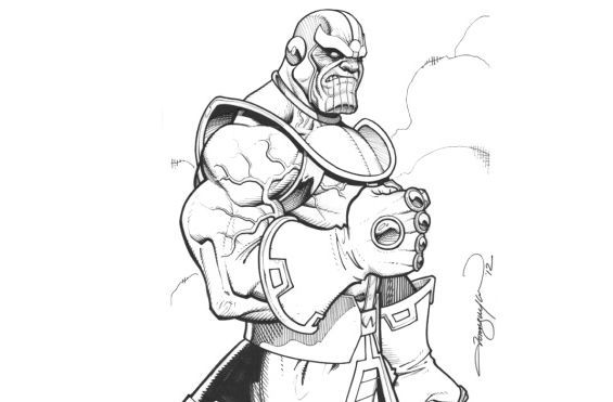 Thanos Marvel Thanos The Supervillain From Marvel Comics Coloring Page Inspired By A Fan Art Draw Avengers Coloring Pages Avengers Coloring Marvel Coloring