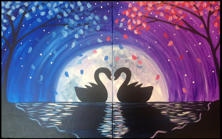 It is said swans mate for life. This romantic painting honors couples and the bond their loves forges over time.