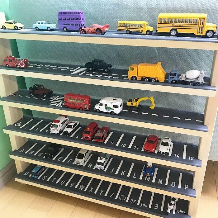 大掃除で参考にしたい 目からウロコの おもちゃ収納 アイデアまとめの画像6 収納 アイデア トミカ 収納 子供部屋 収納 アイデア