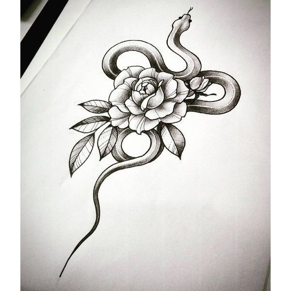 30 Amazing Small Snake Tattoo Design Ideas ❤ liked on Polyvore featuring accessories and body art #FlowerTattooDesigns