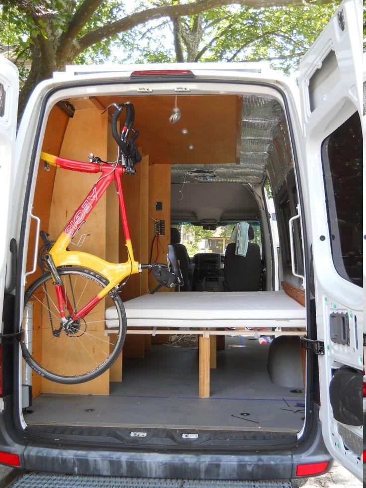 Customized Toyota Hiace Vans >> Bike mount inside the sprinter? - Page 2 - Sprinter-Forum | Vans | Pinterest | Bike mount ...