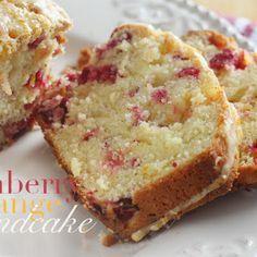 CRANBERRY ORANGE CREAM CHEESE POUND CAKE @keyingredient #cake #cheese