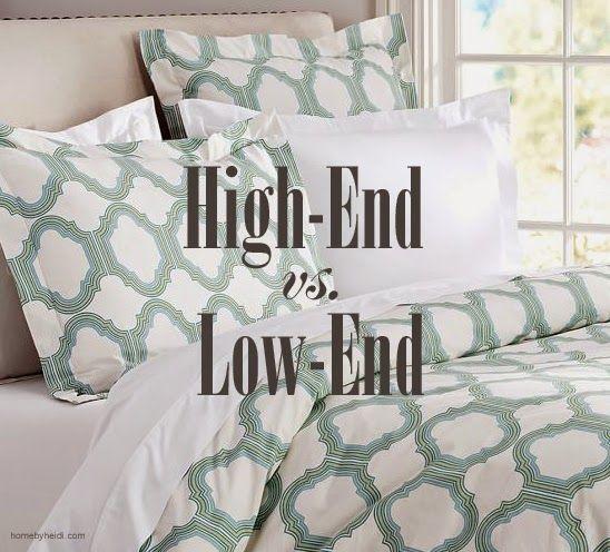 home by heidi decorating high end vs low end for home decor inspiration pinterest home. Black Bedroom Furniture Sets. Home Design Ideas