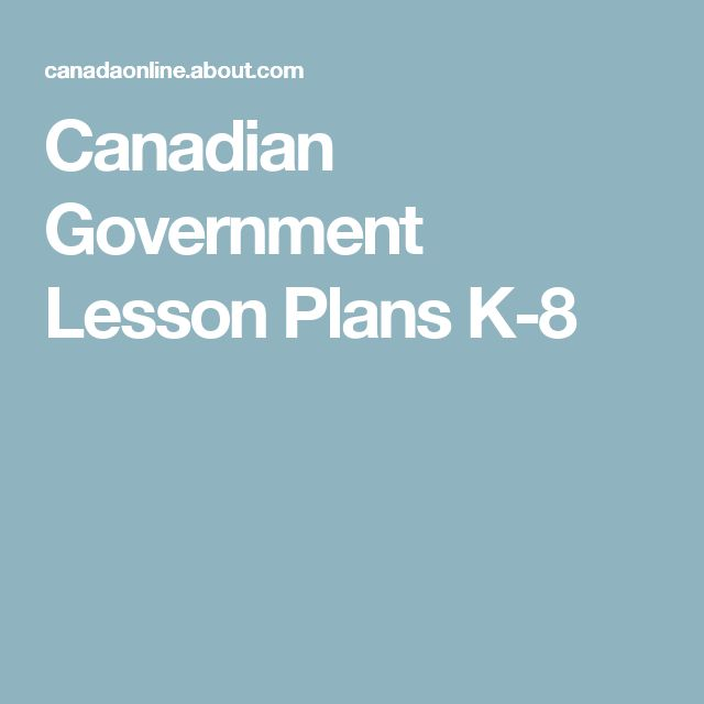 Canadian Government Lesson Plans K-8