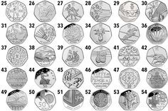 ChangeChecker's scarcity index tracks which circulating 50p coins are the most scarce and collectable