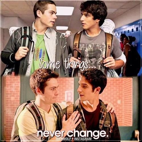 Scott McCall (Tyler Posey) and Stiles Stilinski (Dylan O'Brien)