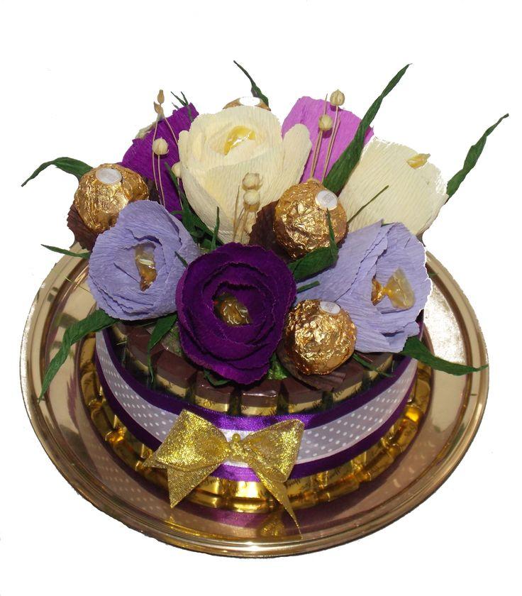 Chocolate Cake &Flowers