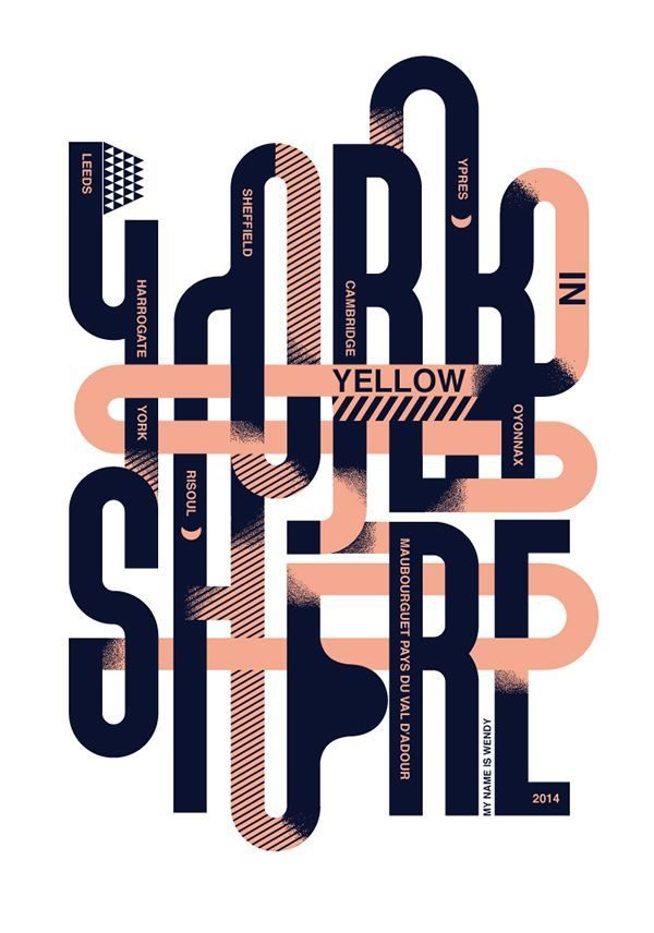 Awesome intertwined lettering, love the colours too! Could be a neat way of expressing how certain parts of the design process intertwine, or how negative aspects of being a designer combine with positives that altogether make us who we are....