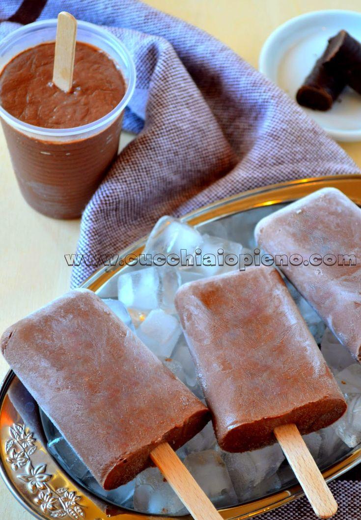 picolé de chocolate e iogurte