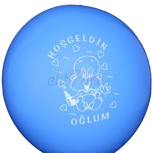 Hosgeldin Oglum Mavi Latex Balon - 1.49 ₺