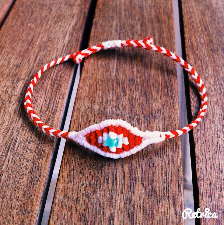 #My_armcandy evil eye.  Βραχιολακι Μάρτη macrame. #March-bracelet. Μάρτης. Μαρτάκι. #martis