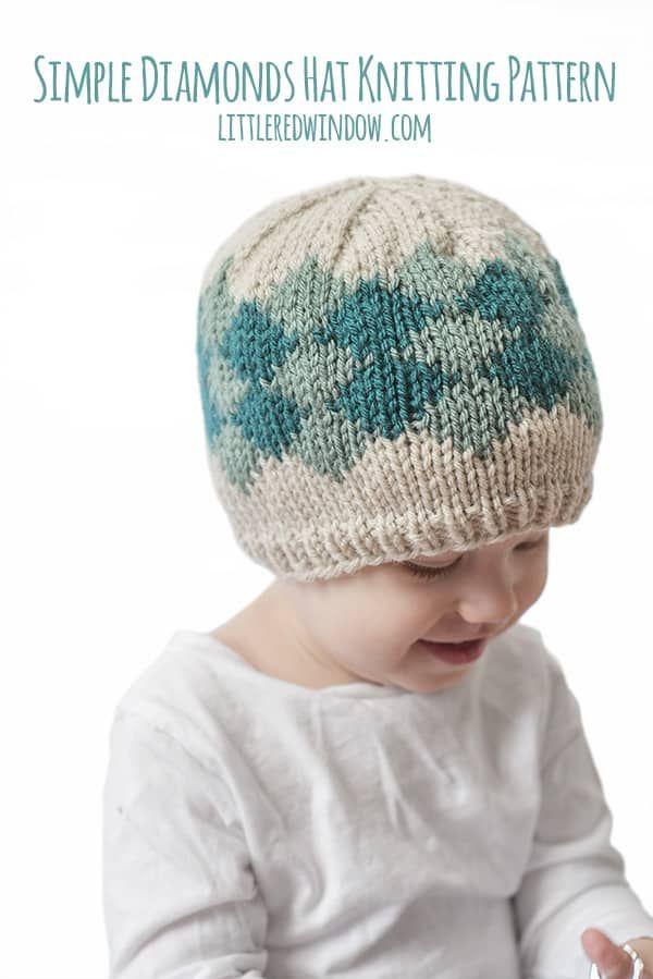 Simple Diamond Hat Knitting Pattern | Craft Community Board ...