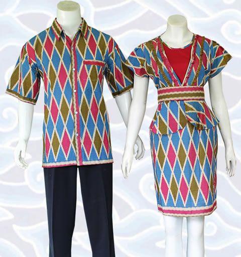 modern batik dress SM341 lengkap di http://senandung.net/batik-sarimbit/