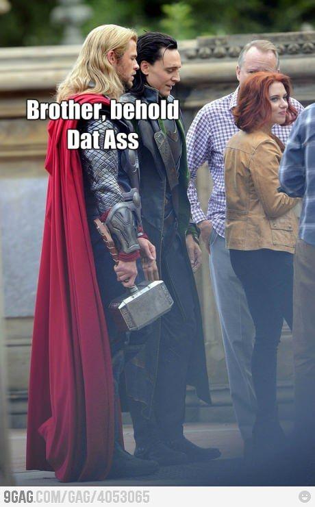 DAAAAT ASS!: Funny Image, God, Scarlett Johansson, Funny Pictures, Tomhiddleston, Dat Ass, Thor Loki, Tom Hiddleston, The Avengers
