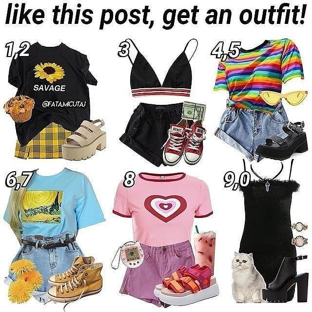 I Would Totally Wear The Rainbow One Retro Outfits Cool Outfits Aesthetic Clothes