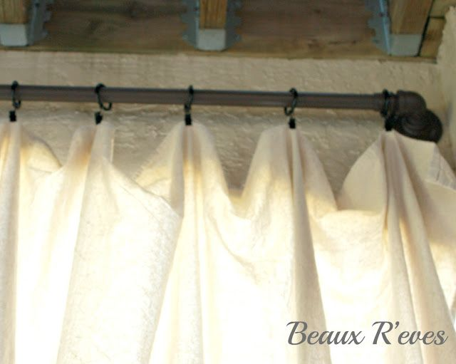 drop cloth curtains back patio making my house a home pinterest discover more ideas. Black Bedroom Furniture Sets. Home Design Ideas