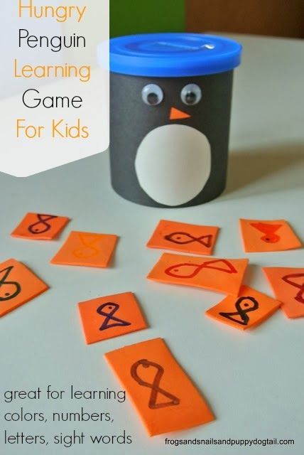 Hungry Penguin Learning Game For KidsWashi Tape Penguin Craft for KidsPenguin Footprint ArtPreschool Penguin Learning Activities and Eco Craft