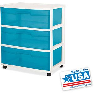 Sterilite 3 Drawer Wide Cart Planning To Use As A Dresser