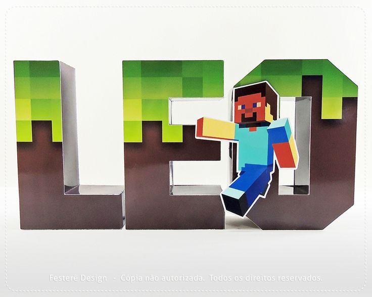 Letras 3d minecraft letras de 886 709 - Papel para paredes de dormitorios ...