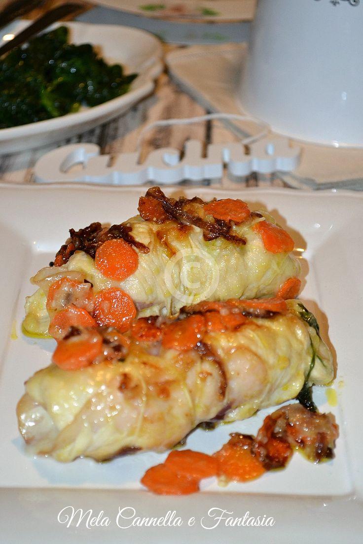 Involtini di pollo con provola affumicata e prosciutto cotto | Mela Cannella e Fantasia