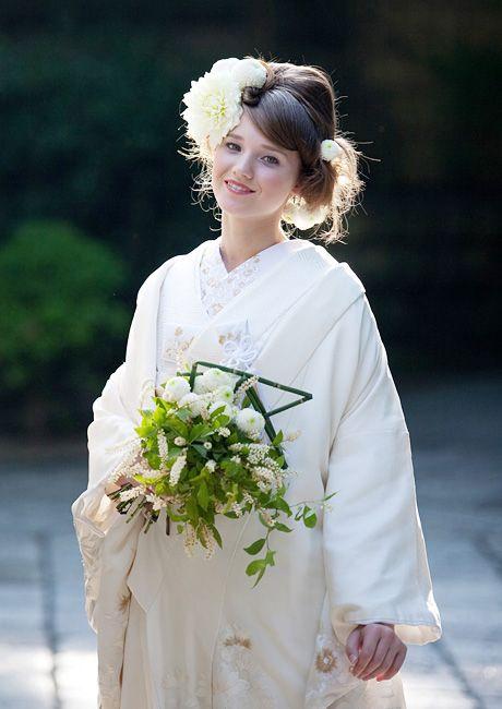 結婚式 白無垢 洋髪 - Google 検索