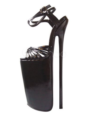 "Fantastic Cowhide High Heels - Milanoo.com ~ 6.3"" platform and 11.8"" heel height.... oh my!"