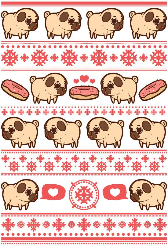 Puglie Christmas Sweater (Red) Art Print