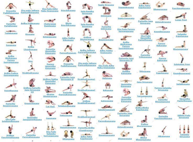 Yoga+Poses+and+Names+English | Yoga Pose