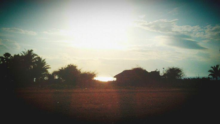 beautiful sunrise , kolbano beach, indonesia