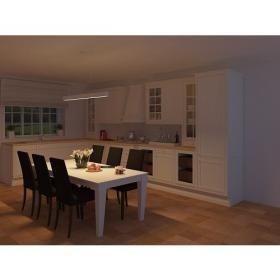 aranżacja wnętrz -  Wykorzystano oprawę AUTHENTIS  /oświetlenie kuchni/
