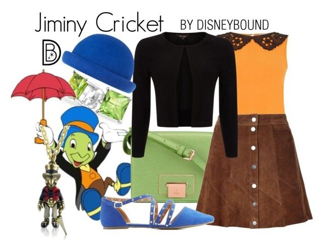 """""""Jiminy Cricket"""" by leslieakay ❤ liked on Polyvore featuring Bling Jewelry, Oasis, Vivienne Westwood, A.L.C., Phase Eight, Charlotte Russe, Disney Couture, River Island, disney and disneybound"""