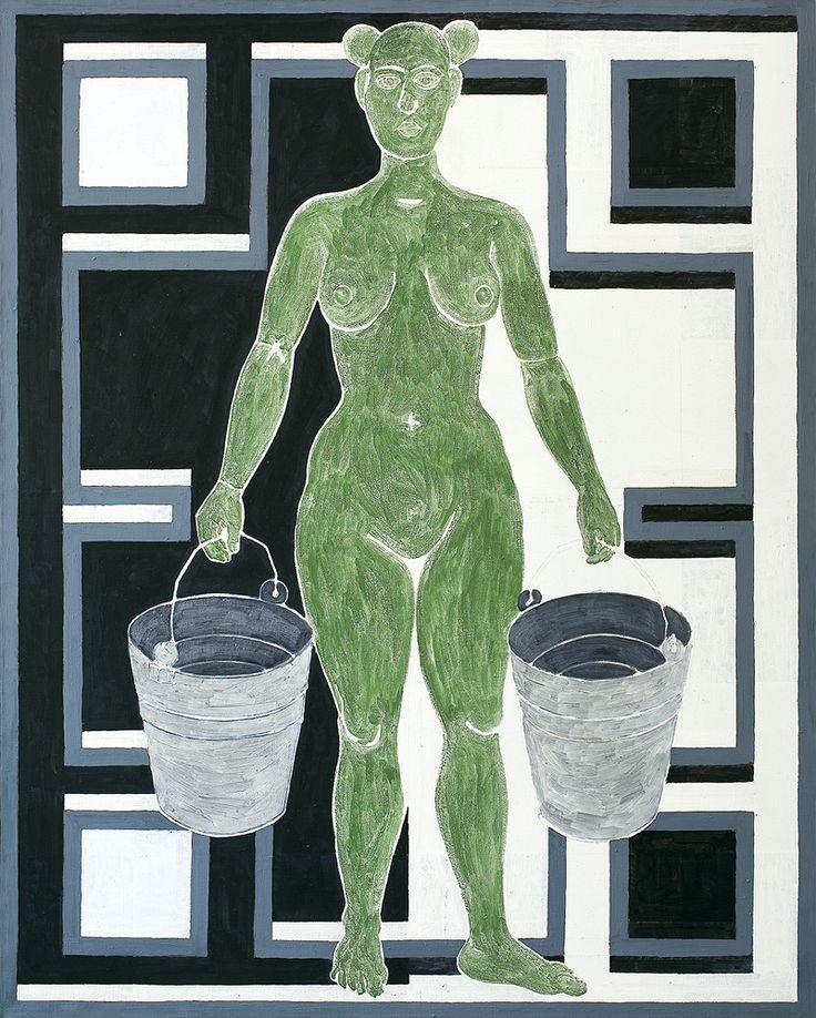 Marek Sobczyk | KUNA, 1994 | olej, tempera, płótno | 180.5 x 145 cm