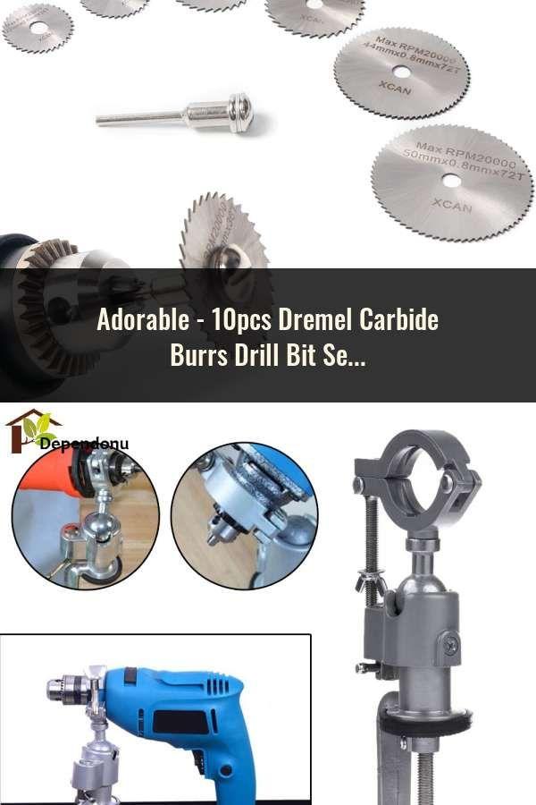 10pcs Dremel Carbide Burrs Drill Bit Set for Metal