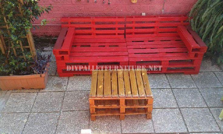 Canapés et fauteuils avec des palettes en plein air 2