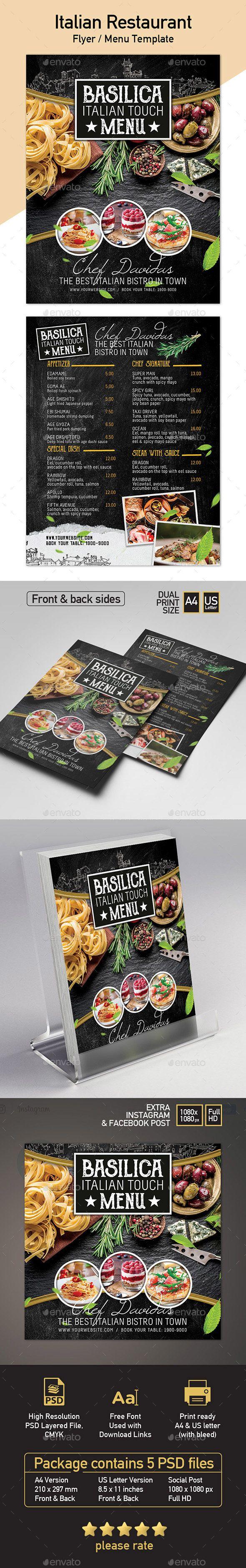 #Restaurant #Menu Template - A4 & US Letter - #Restaurant Flyers