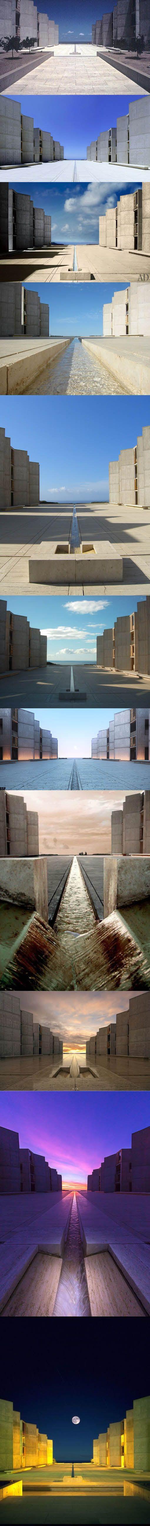 1959-1965 Louis I. Kahn - Salk Institute for Biological Studies / La Jolla California USA / concrete