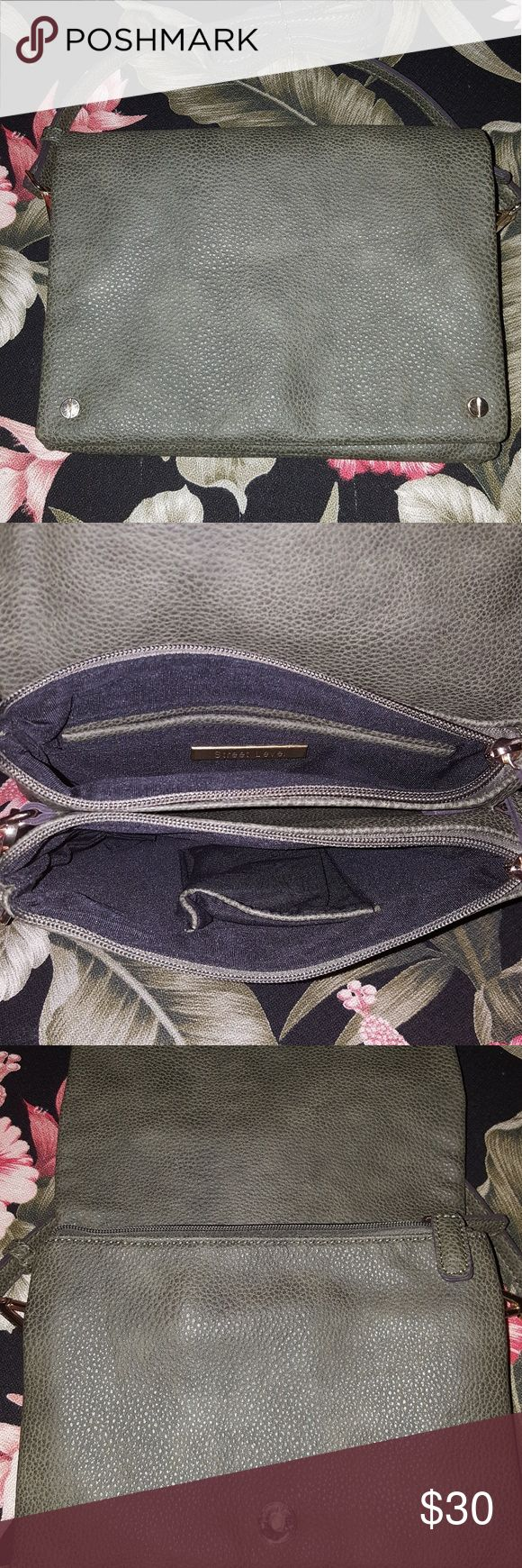 """Purse ***ON SALE FOR 24HRS ONLY***Olive Green crossbody Bag w/ Magnetic Flap, 7 pockets (Three Zipper Pockets) and Adjustable Shoulder strap. 7 3/4"""" (h) 9 1/2"""" (w) and in excellent condition. Brand: Street Level other Bags Shoulder Bags"""