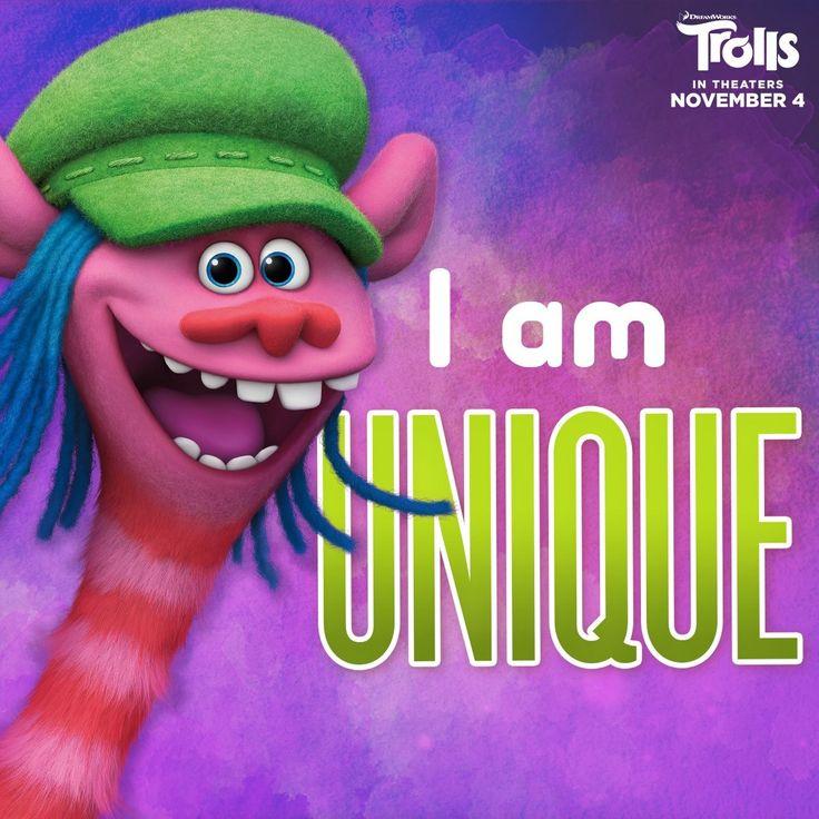 I am unique!  #cooper #trolls #dreamworks www.charmingsusie.origamiowl.com