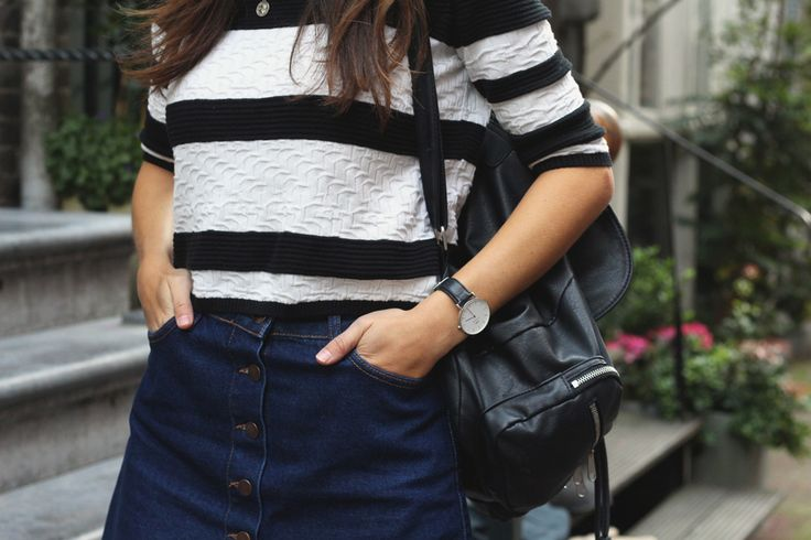 Fashiable, outfit, fashion, blogger, Amsterdam, River Island striped top, Primark skirt