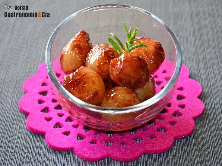 Cebollitas francesas glaseadas al Oporto