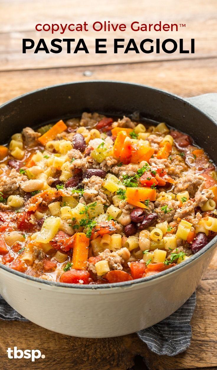 Copycat Olive Garden™ Pasta e Fagioli Recipe in 2020