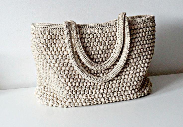 (4) Name: 'Crocheting : Crochet Tote Bag/ Handbag Summer Bag