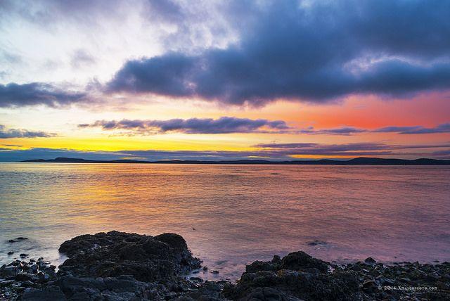 Sunset over Washington