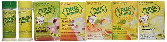 True Lemon Assorted Beverage Pack: (5 Boxes 10ct) with BONUS Lemon and Lime Shaker. True Lemon Original Lemonade, True Peach Lemonade, True Black Cherry Limeade, True Mango Orange and True Raspberry Lemonade. Assorted Sugar Free Diet True Lemonade Drink Mixes. * You can get more details at : Fresh Groceries