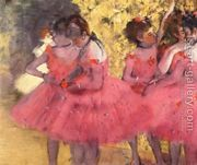 Dancers in Pink 2  by Edgar Degas