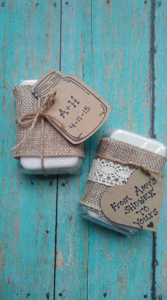 20 Rustic Soap Favors bridal shower rustic by CityGirlSoapShop