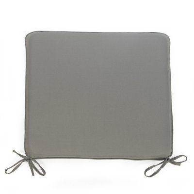 Coral Coast Classic 21 x 19 in. Outdoor Furniture Seat Pad Gray - M029-AFS055-GRAY