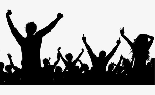 Black Dancing Crowd Music Silhouette Cool Background Music Dance